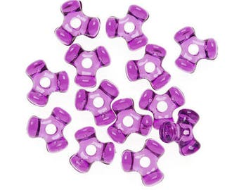480 - 11MM Dark Amethyst Tri-Beads - a must have for your holiday craft/jewelry making