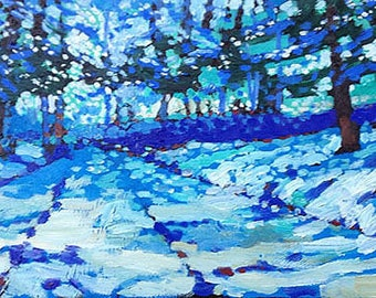 Snowy Woods #5 (Oil painting)
