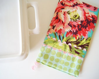 Oven Mitt - Hot Pad - Amy Butler - Bliss Bouquet and Polka Dots
