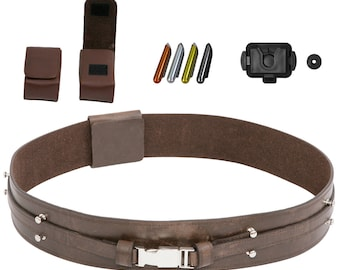 Star Wars Anakin Skywalker Jedi Belt Bundle - Belt, Pouches, Food Caps, Covertec