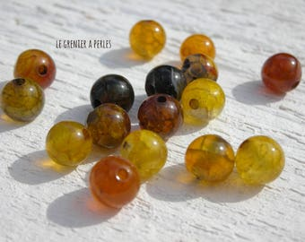 Beads Dragon veins Agate 6 mm X 10