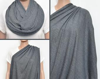 Nursing Cover, nursing cover scarf, Gray Infinity Scarf, nursing scarf, nursing infinity scarf, breastfeeding cover