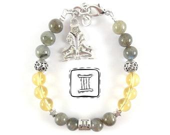 Gemini Zodiac Bracelet-gemini Woman Birthday Gift Idea-gemini Charm bracelet-gemini Birthstone Bracelet