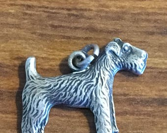 Sterling Scottie dog flat charm from the 50s