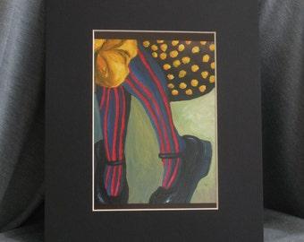 Feet - 5 x 7 PRINT with 8 x 10 Black Matte