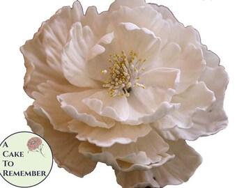 4 styles Gumpaste Peony Tutorial for Cake Decorating, sugar craft tutorial PDF download. Gumpaste flowers, gumpaste peony, flower tutorial