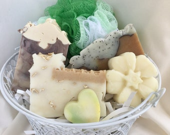 Tan & Green Soap Gift Basket