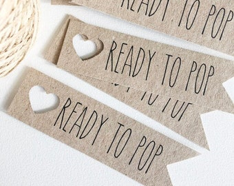 Rustic Ready To Pop Baby Shower Tags Pk10