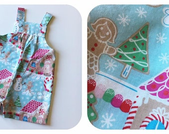 Christmas overalls / dungarees. Australian size 00.