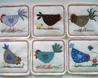 All My Chickens Coasters