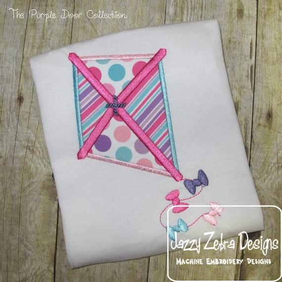 Kite Applique embroidery Design - kite Applique Design - summer Appliqué Design - spring Applique Design