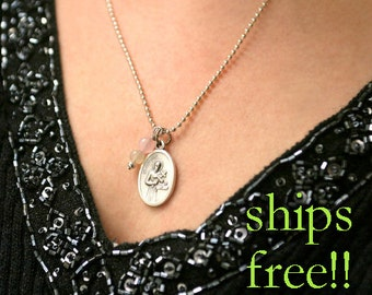 Fertility Necklace, St Gerard Pendant, Fertility Jewelry, Religious Jewelry, Fertility blessing, Saint of Happy Deliveries, Pregnancy Gift