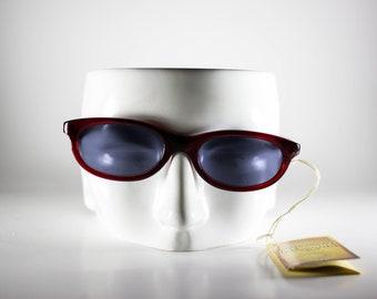 POLICE Vintage Sunglasses Unisex Red Plastic Cat Eye 2000 POLS123M-1