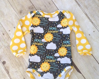 Baby Bodysuit  - One Piece - you are my Sunshine Bodysuit