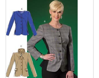 McCall's Sewing Pattern M7024 Misses' Button Front Jackets
