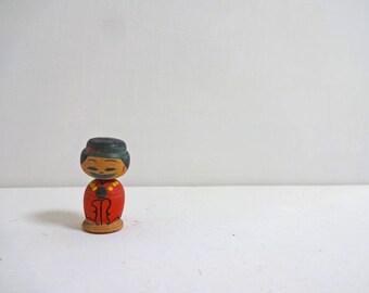 1.4inch Vintage Japanese Miniature Wood KOKESHI Doll