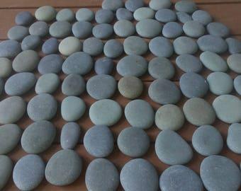 "80 Smooth Beach Stones 2 - 2 1/2""   Painting,Wedding,Craft,Wishing"