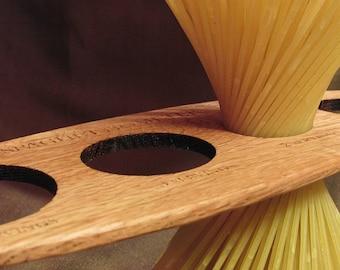 Spaghettiometer - Wood Utensil Spaghetti Measure Kitchen Gadget - Sustainable Harvest Wisconsin Wood . Timber Green Woods
