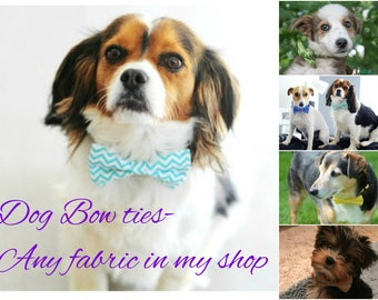 Dog  Bow Ties-Any fabric in my shop.