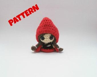 Amigurumi Little Red Riding Hood Pattern, Crochet Rididng Hood Pattern, Amigurumi Doll Pattern, Crochet Doll Pattern, Amigurumi Patterns
