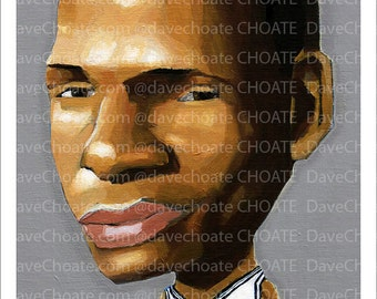 UCONN Huskies, Ray Allen art photo print from an original painting by Artist, Dave Choate.