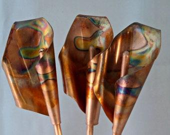 Copper Calla Lilies metal flowers lillies 7th anniversary gift art
