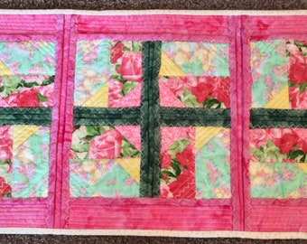 """Spring and Summer (Nautical) Double Sided Cotton Theory Table Runner, 28 1/2"""" by 12 1/2"""""""