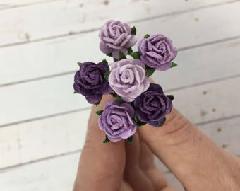 Small Purple Flower Hair Pins // Weddings, Bridesmaids, Prom, Thank You Gifts, Holidays // Romantic Hair Styles