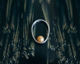 Drop 1 white silver 925 ring