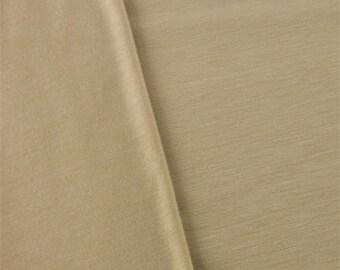 Sand Beige Slub Jersey, Fabric By The Yard