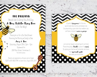 Ba-Bee Baby Shower Package | King Bee | Invitation, Diaper Raffle, Signs, Honey Favor Tags | Themed Shower | Digital Download | Printable