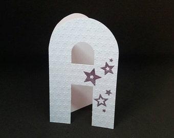 A, B. C, Monogram card letter, Birthday card