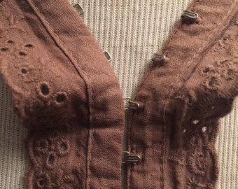 Eyelet Trim With Hook and Eye