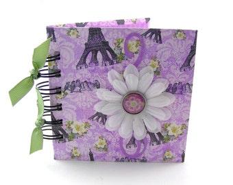 Birds in Paris Gratitude Book, gratitude journal, thank you book, thank you journal, gratitude diary, blessings book - lavender