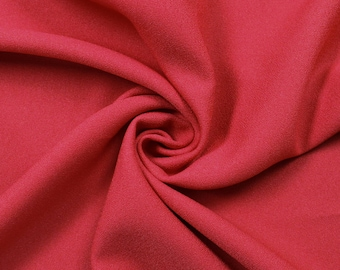 """Red 60"""" Poly Crepe Fabric by the Yard - Style 3060"""