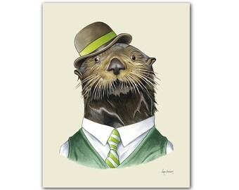 Sea Otter print 11x14