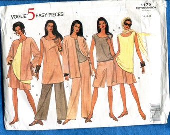 Vogue 1175 Easy Breezy Resort Wear Pattern Size 14..16..18 UNCUT