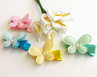 Butterfly hair clips no slip for baby mini hair clips baby bow clip for toddler hair clips cheap hair clips