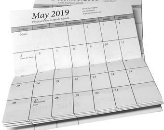 25 Pocket Calendar 2 Year 2018-2019 - Insert Only