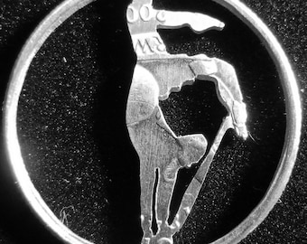 Silk Aerial Dancer Hand Cut Coin Jewelry