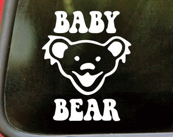 """BABY BEAR 4"""" Vinyl Decal Sticker - Dancing Bear Grateful Dead - 20 Color Options - *Free Shipping*"""