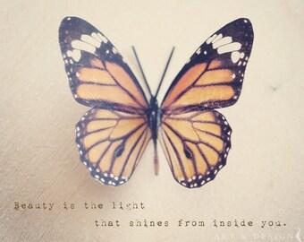 Cadeaux papillon pour les femmes, source d'inspiration cadeaux pour femme, cadeau de Mentor, inspiration Home Decor Art Print, Art de papillon monarque
