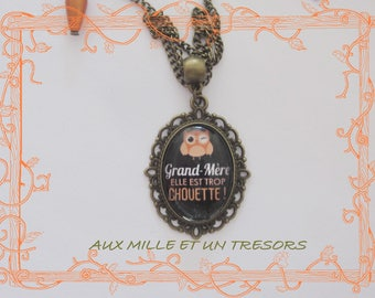 too cool grandmother personalized necklace