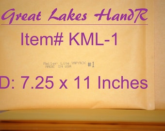 5 KML-1, Kraft Bubble Cushioned Envelope Mailers, OD: 8 x 11 Inches