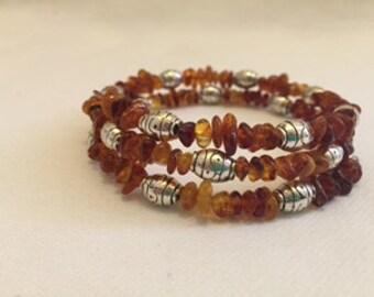Baltic Amber bracelet on spring, real amber bracelet, amber jewelry, unique gifr, natural bracelet, gift for her