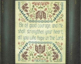 Be of Good Courage by My Big Toe Counted Cross Stitch Pattern/Chart