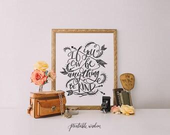 Printable Wisdom hand lettering, quote printable wall art, art print, printable art, wall decor, arrows print, hand drawn art, typographic