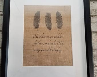 Burlap Feather inspiration