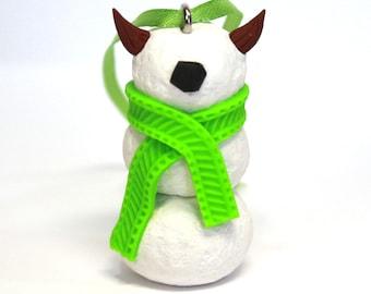 Timid SnowMonster Ornament (LimeGreen)