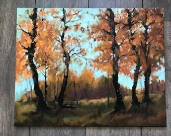 Autumn Trees Oil Painting